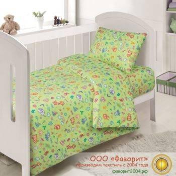 Детское постельное белье в кроватку «АБВгдейка»
