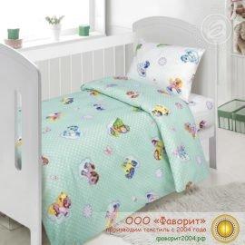 Детское постельное белье в кроватку «Бусинка зеленый»