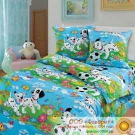 Детское постельное белье «Далматинцы синие»