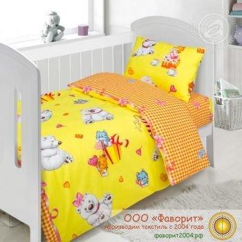Детское постельное белье в кроватку «День рождения»