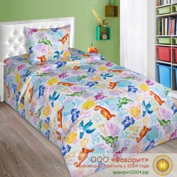Детское постельное белье в кроватку «Динозаврики»