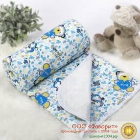 Покрывало-одеяло детское трикотажное «Карапуз»
