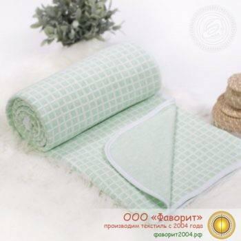 Покрывало-одеяло детское трикотажное «Клетка»