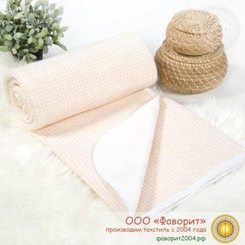 Покрывало-одеяло детское трикотажное «Лапки»