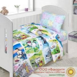 Детское постельное белье в кроватку «Мурзик»