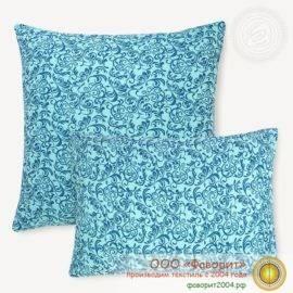 Наволочка «Завиток синий» из трикотажа