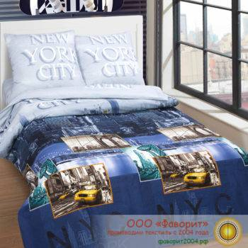 Постельное белье из поплина «Нью-Йорк»