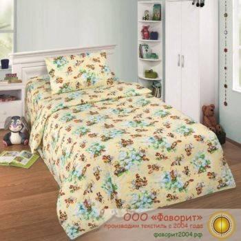 Детское постельное белье в кроватку «Пчелки»