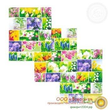 Набор из 3 кухонных полотенец «Первоцветы»
