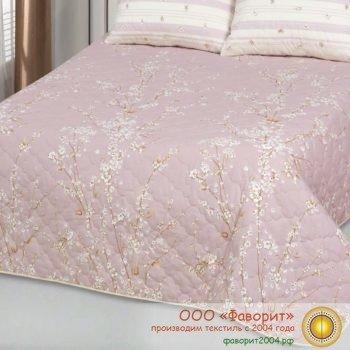 Покрывало-одеяло стеганое «Сакура» поплин с синтепоном