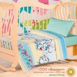 Детское постельное белье в кроватку «Пушистик»