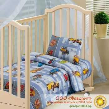 Детское постельное белье в кроватку «Ретро»