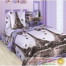 Постельное белье из бязи «Романтика Парижа»