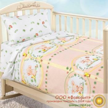 Детское постельное белье в кроватку «Счастливый день»