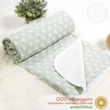 Покрывало-одеяло детское трикотажное «Сердечки»