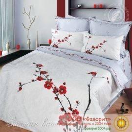 Постельное белье из сатина «Зимняя вишня» в подарочной упаковке