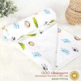 Покрывало-одеяло детское трикотажное «Зоопарк»