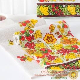 Набор из 4 тканевых салфеток из рогожки «Кадриль»