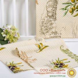 Набор из 4 тканевых салфеток из рогожки «Оливия»