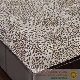 Простынь на резинке «Леопард» из трикотажа