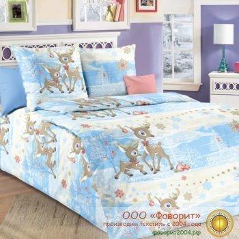 Детское постельное белье «Оленята»