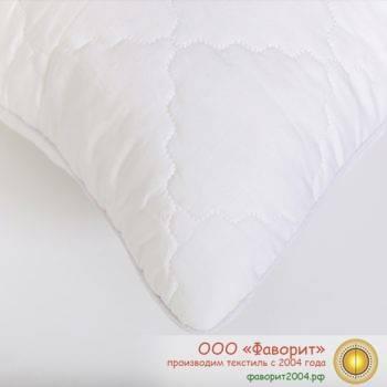 Подушка «Лебяжий пух» для гостиниц сатин 2-х камерная