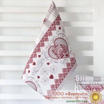 Полотенце из рогожки «Ришелье»