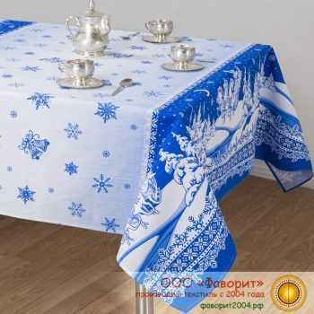 Набор из 4 тканевых салфеток из рогожки «Снежные узоры»